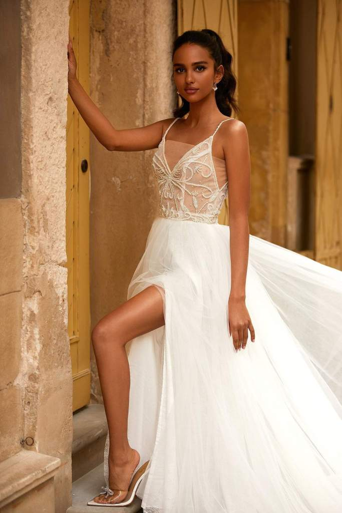 AMBER WEDDING DRESS from Boho-luxe Bride Collection | Shop Affordable Bridal Wear at JO MÂLIN ATELIER www.jomalin.com