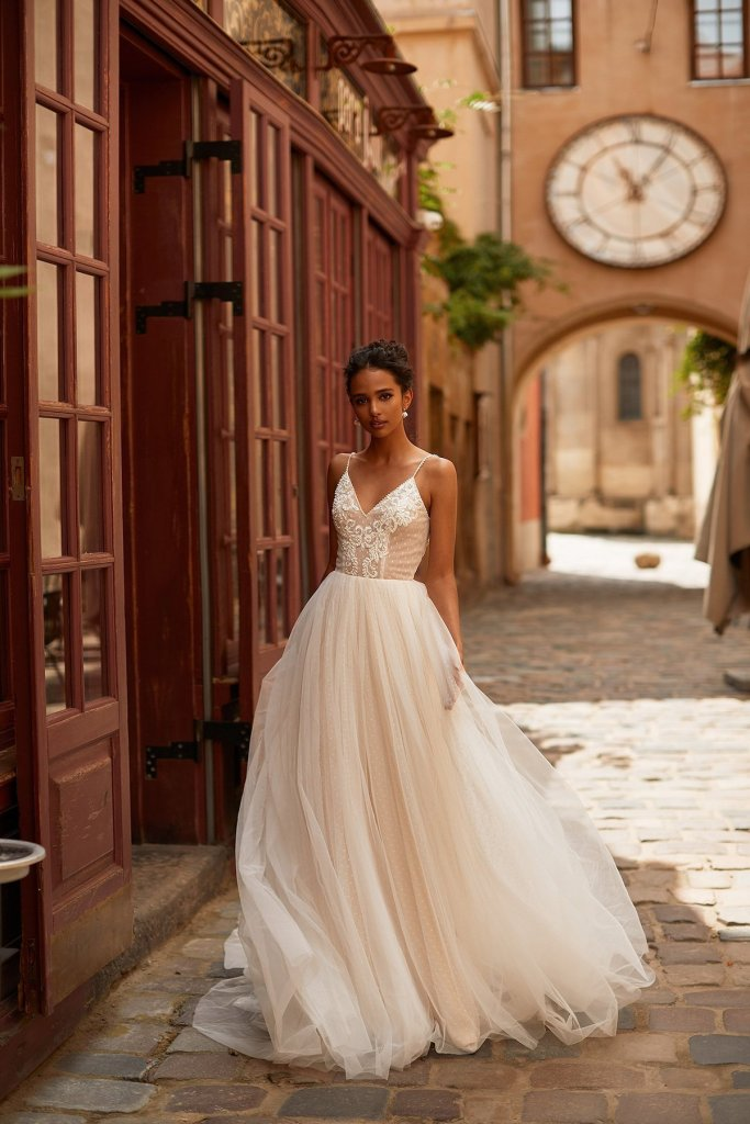 CARRIE WEDDING DRESS from Boho-luxe Bride Collection | Shop Affordable Bridal Wear at JO MÂLIN ATELIER www.jomalin.com