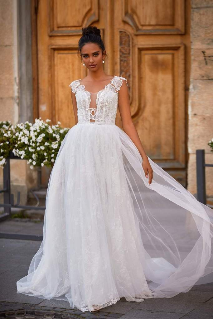 DORIAN WEDDING DRESS from Boho-luxe Bride Collection | Shop Affordable Bridal Wear at JO MÂLIN ATELIER www.jomalin.com