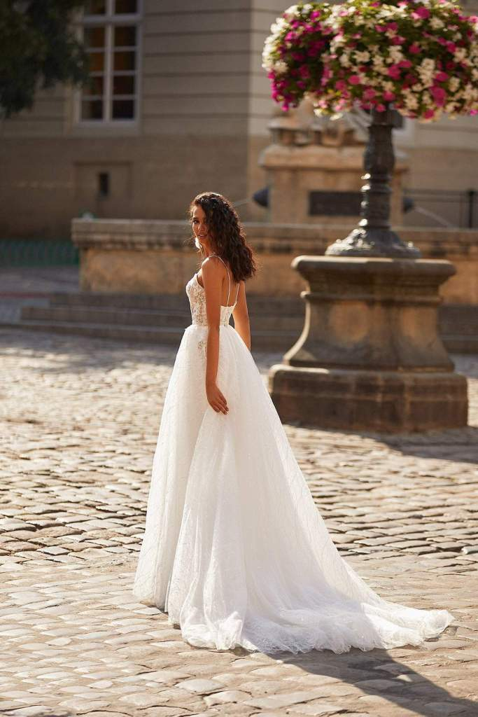 HERMOINE WEDDING DRESS from Boho-luxe Bride Collection | Shop Affordable Bridal Wear at JO MÂLIN ATELIER www.jomalin.com