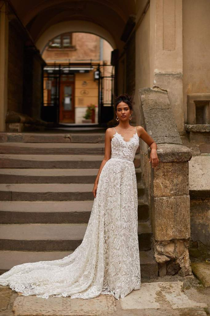 PEARL WEDDING DRESS from Boho-luxe Bride Collection | Shop Affordable Bridal Wear at JO MÂLIN ATELIER www.jomalin.com