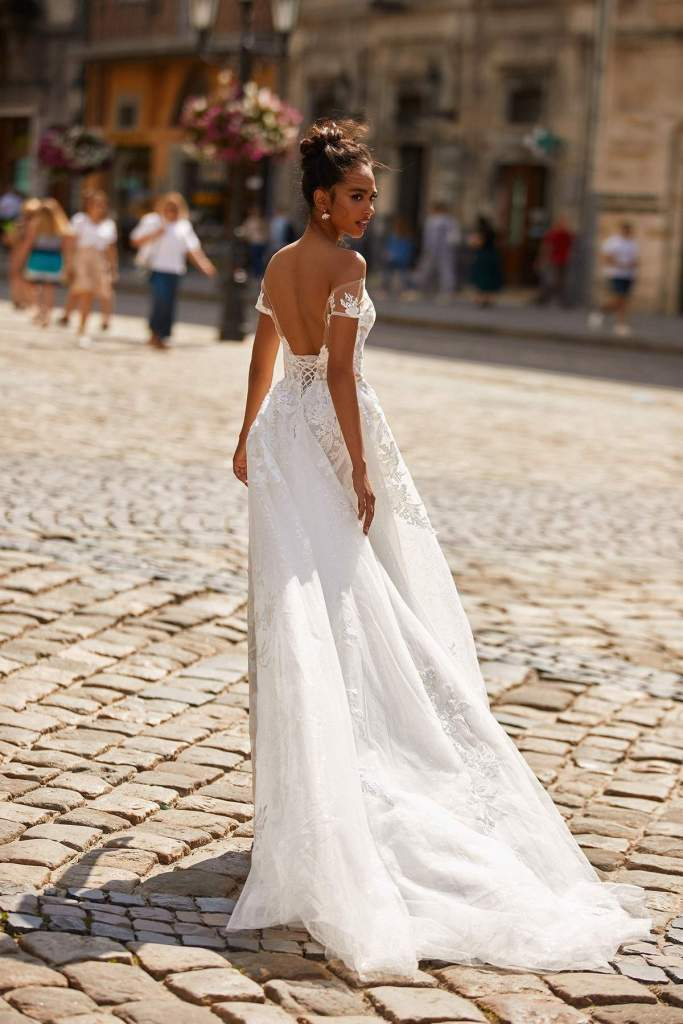 SHAYLINE WEDDING DRESS from Boho-luxe Bride Collection | Shop Affordable Bridal Wear at JO MÂLIN ATELIER www.jomalin.com