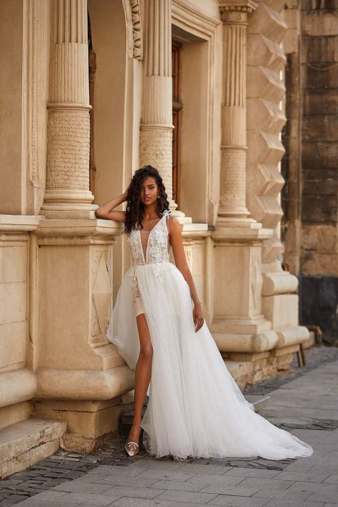 SINEAD WEDDING DRESS from Boho-luxe Bride Collection | Shop Affordable Bridal Wear at JO MÂLIN ATELIER www.jomalin.com